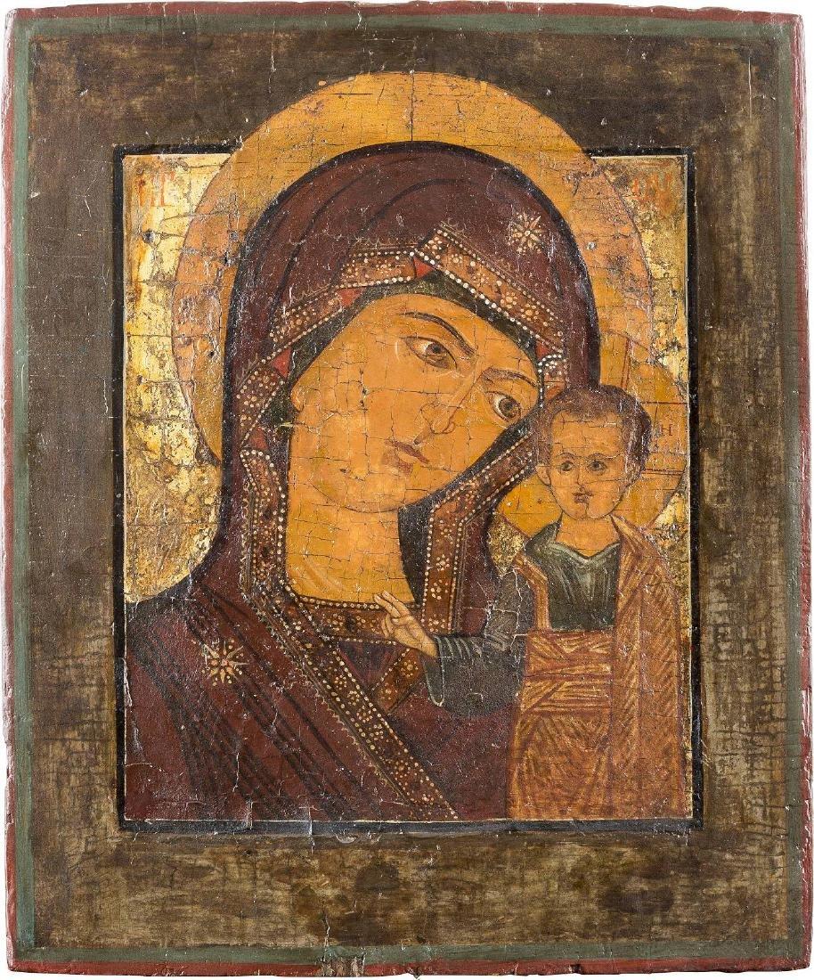 AN ICON SHOWING THE KAZANSKAYA MOTHER OF GOD Russian,