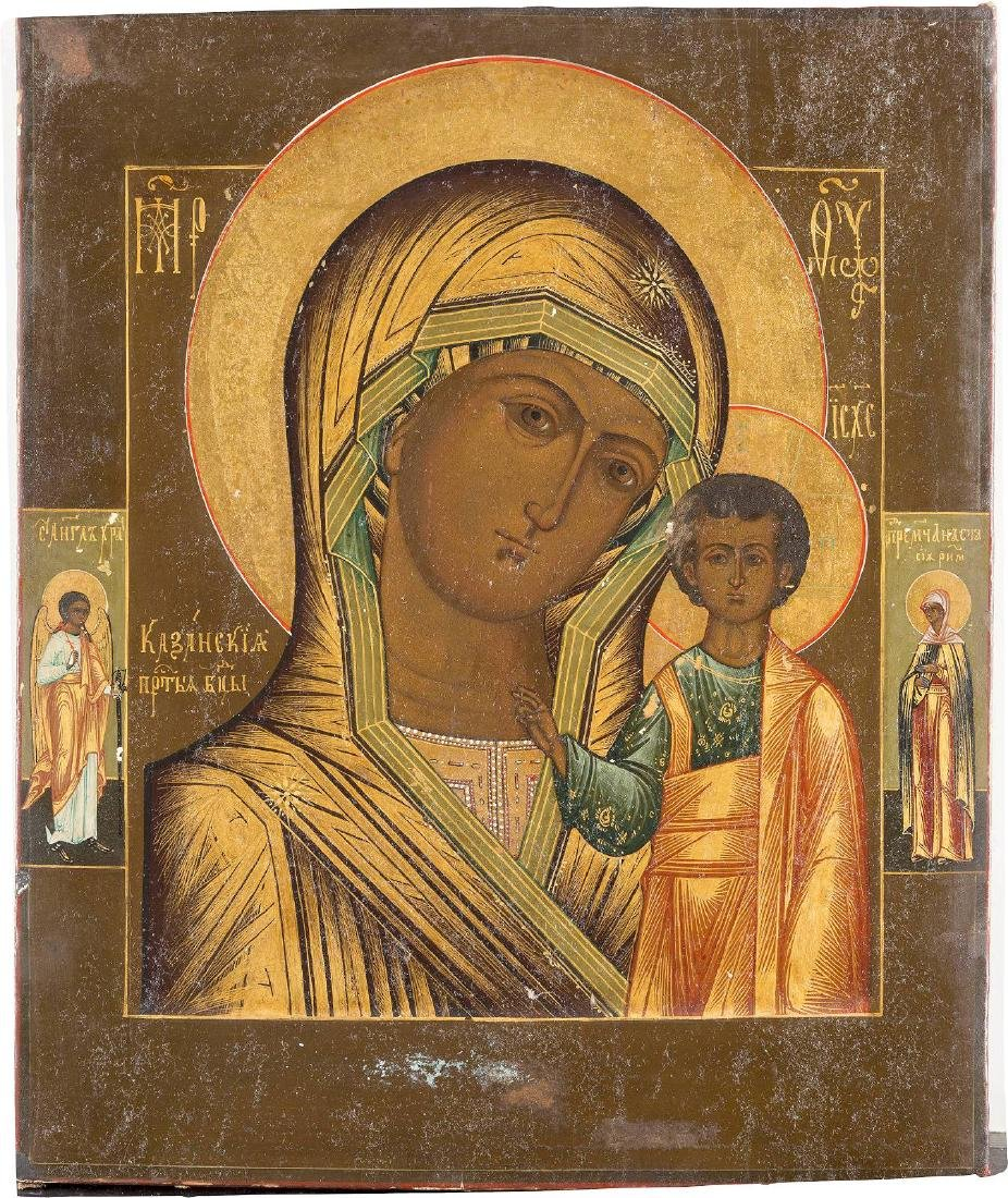 AN ICON SHOWING THE KAZANSKAYA MOTHER OF GOD Russian,