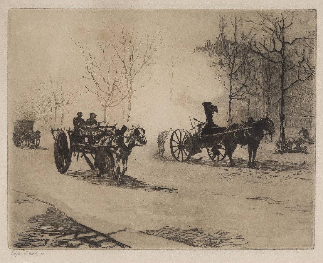 EDGAR CHAHINE 1874 Wien - 1947 Paris QUARTIER DU COMBAT
