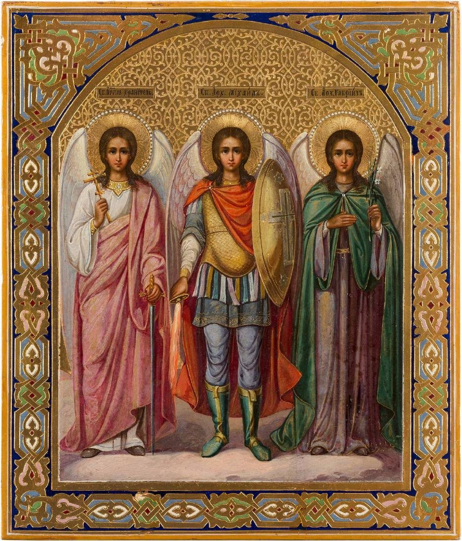 AN ICON SHOWING THE GUARDIAN ANGEL AND THE ARCHANGELS