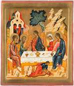 A SMALL ICON SHOWING THE OLD TESTAMENT TRINITY 2nd half