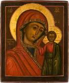 AN ICON SHOWING THE KAZANSKAYA MOTHER OF GOD Russian