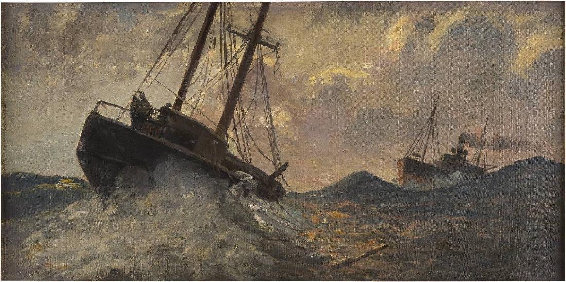 Schiffe auf stürmischer See