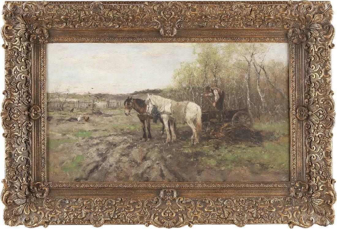 Bauer mit Pferdegespann bei der Feldarbeit - 2