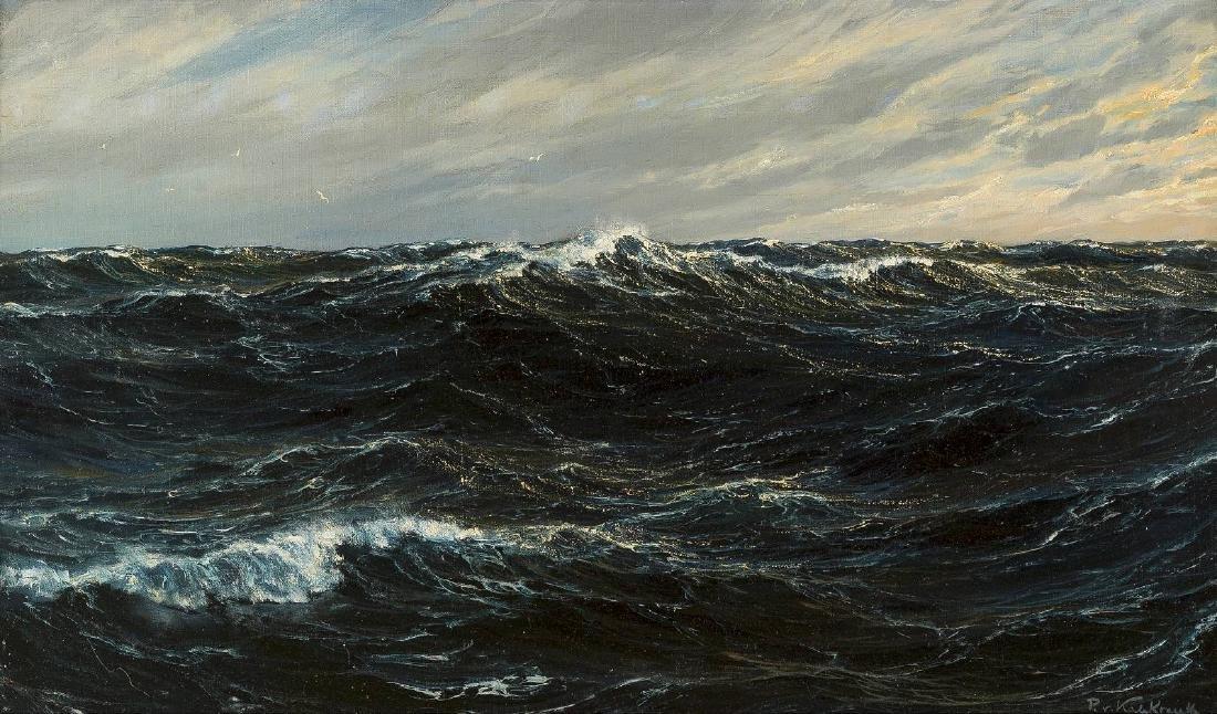 Dunkle Meeresbrandung