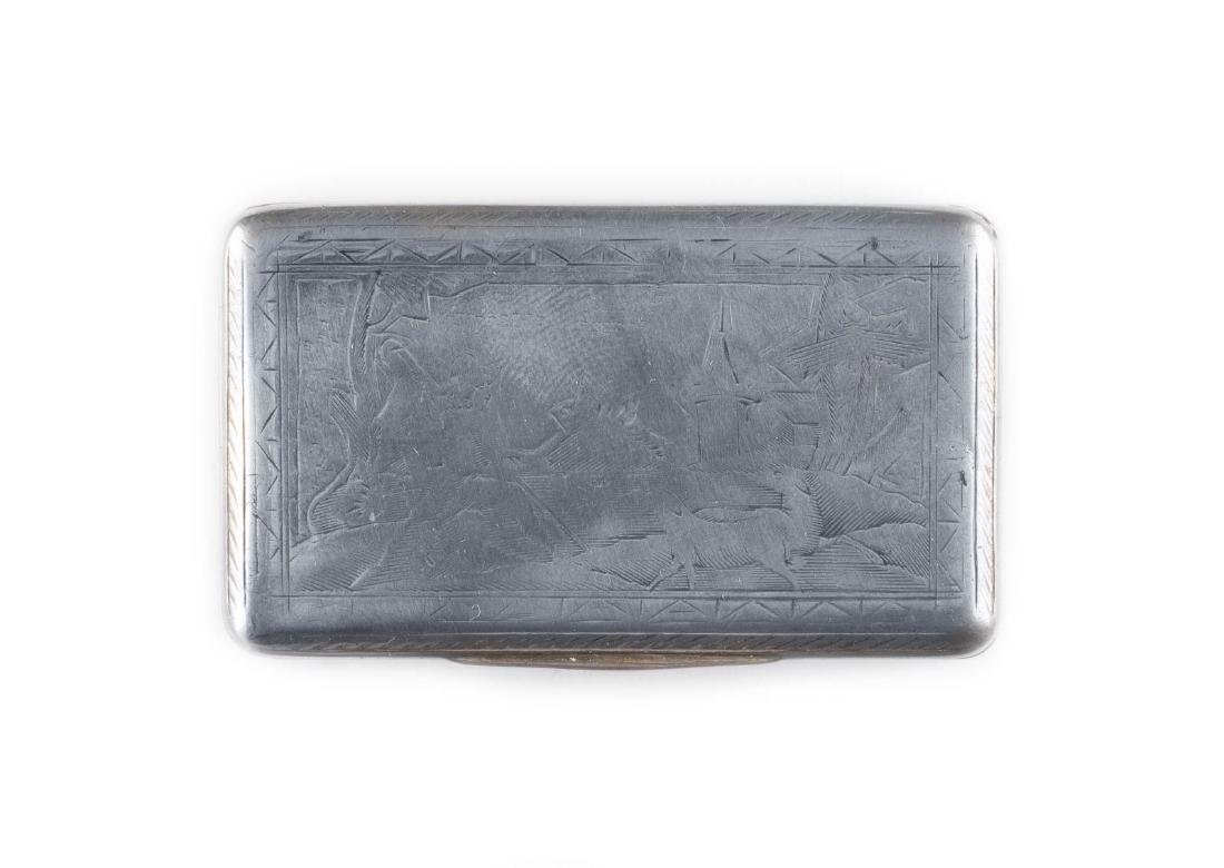 A SILVER SNUFFBOX WITH A SHEPHERD Russian, Moscow, 1836