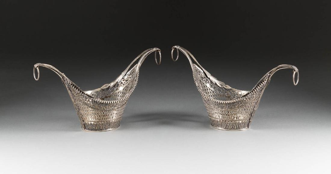 A PAIR OF SILVER EMPIRE BASKETS Russian, St.