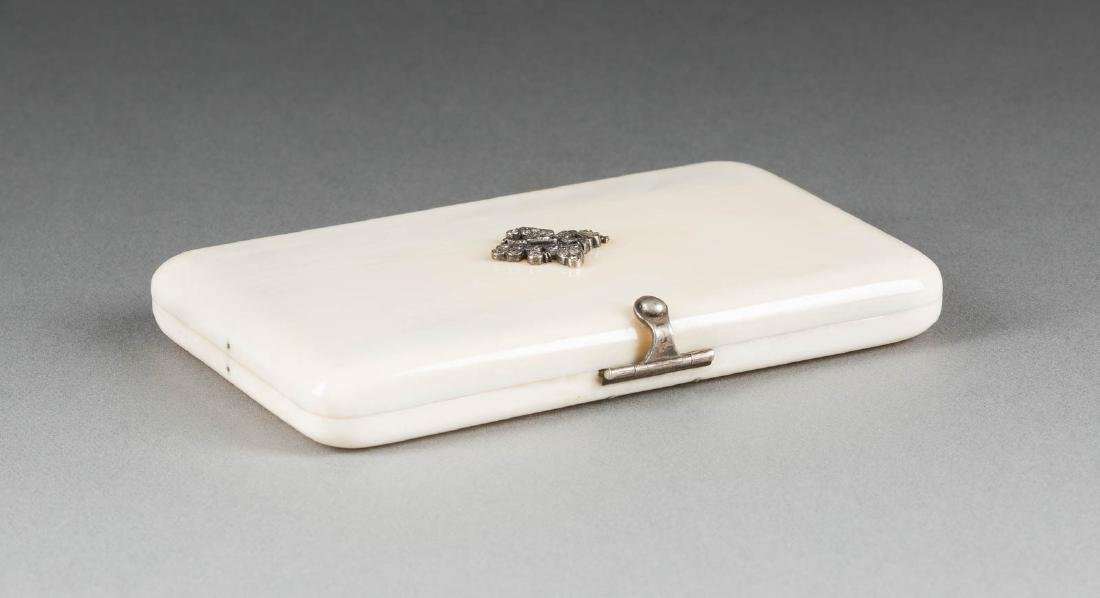 AN IVORY CASE WITH DOUBLE HEADED EAGLE circa 1900 Of