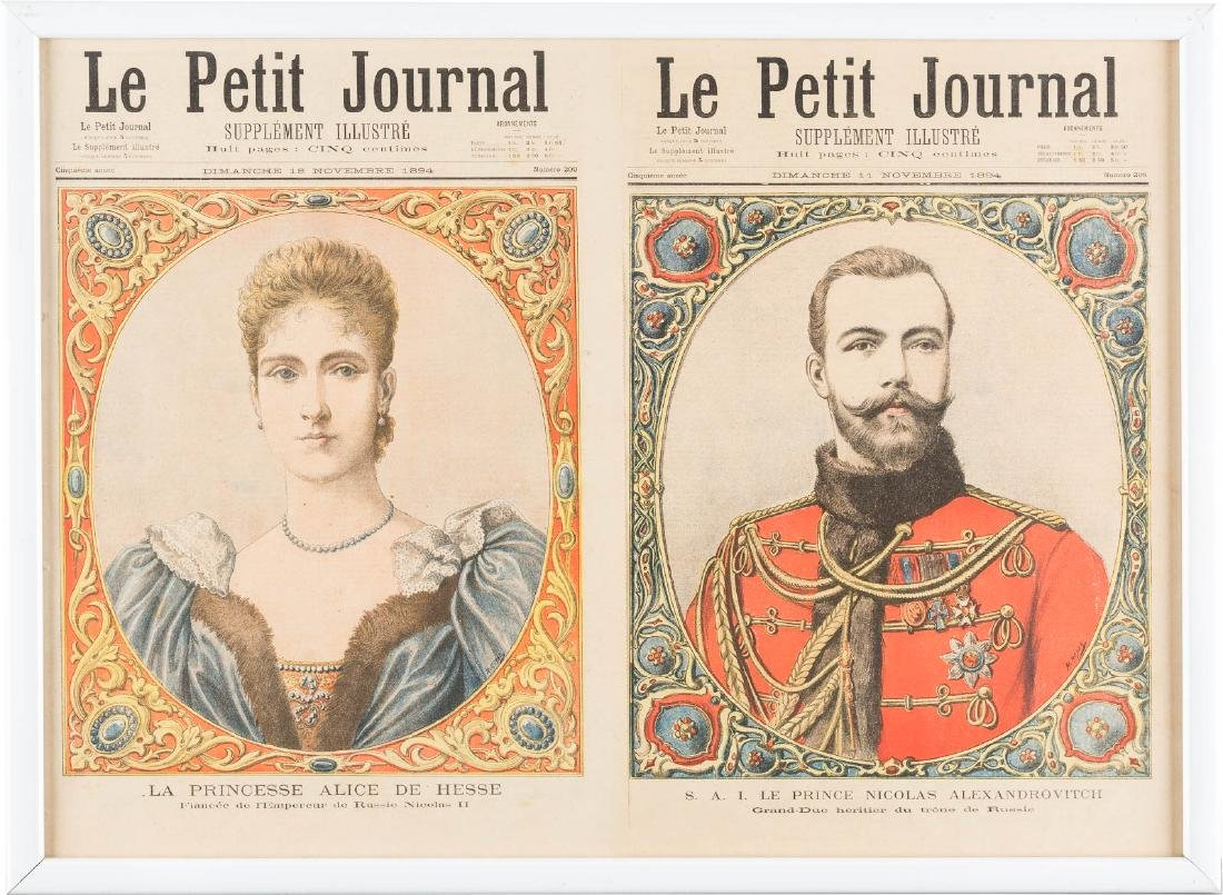 TWO NEWSPAPER PAGES 'LE PETIT JOURNAL' WITH PORTRAITS