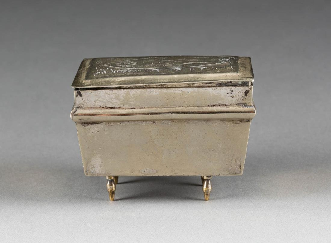 A SILVER BOX FROM A TABERNACLE Russian, late 19th