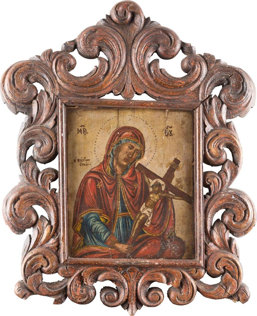 AN ICON SHOWING THE MADRE DOLOROSA Greek, 18th century