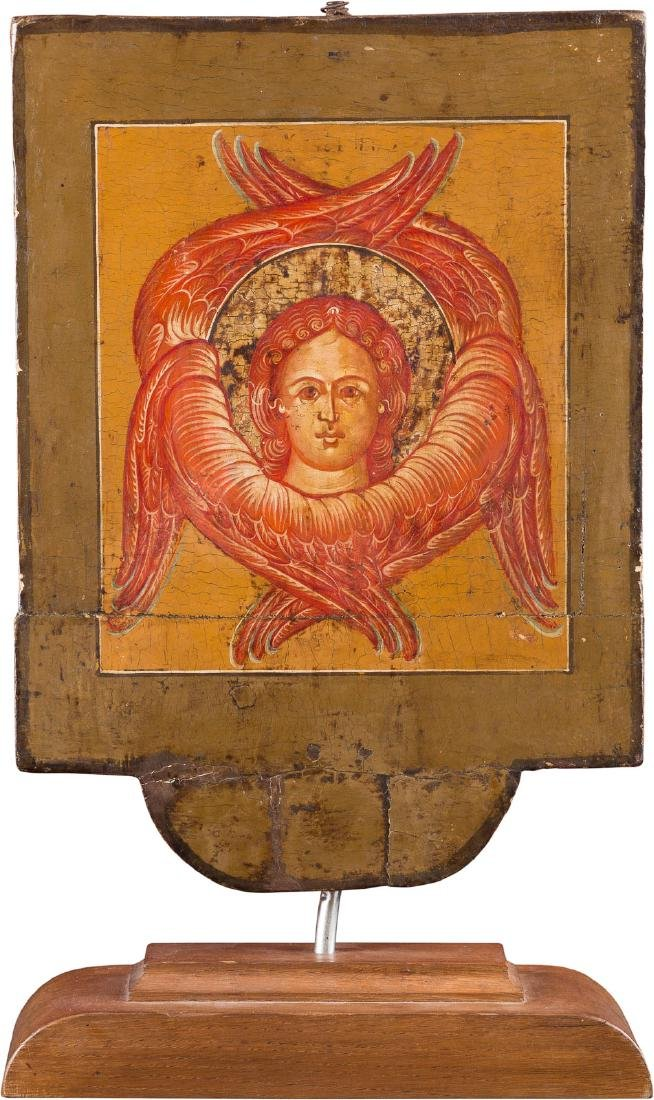 A DOUBLE-SIDED PROCESSIONAL ICON SHOWING THE KAZANSKAYA