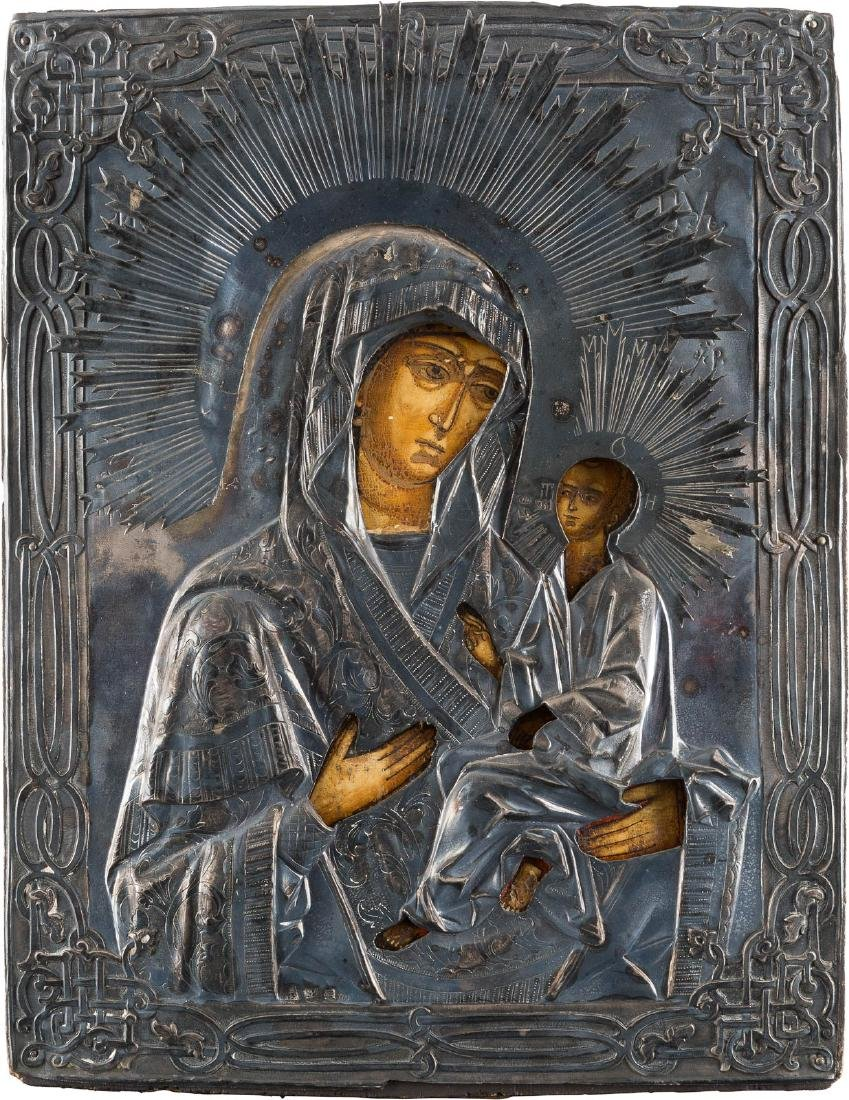 AN ICON SHOWING THE MOTHER OF GOD OF TIKHVIN Russian,