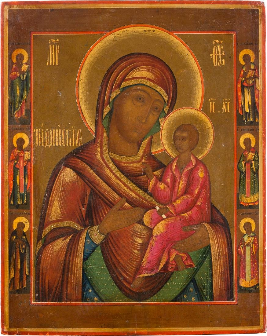 AN ICON SHOWING THE TIKHVINSKAYA MOTHER OF GOD Russian,