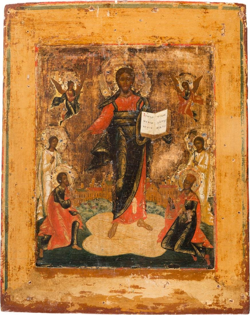 AN ICON SHOWING CHRIST OF SMOLENSK THE SAVIOUR Russian,
