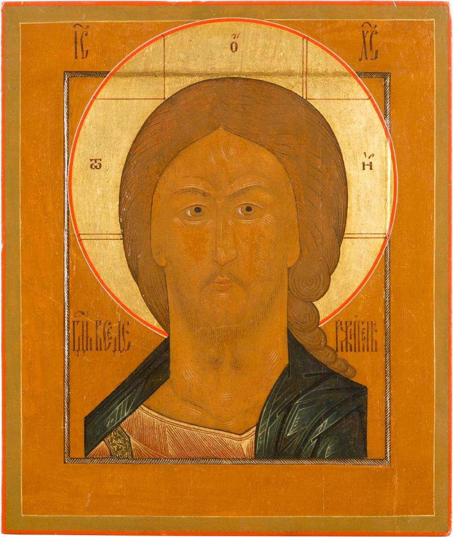 AN ICON OF THE SAVIOUR WITH THE FEARSOME EYE Russian,
