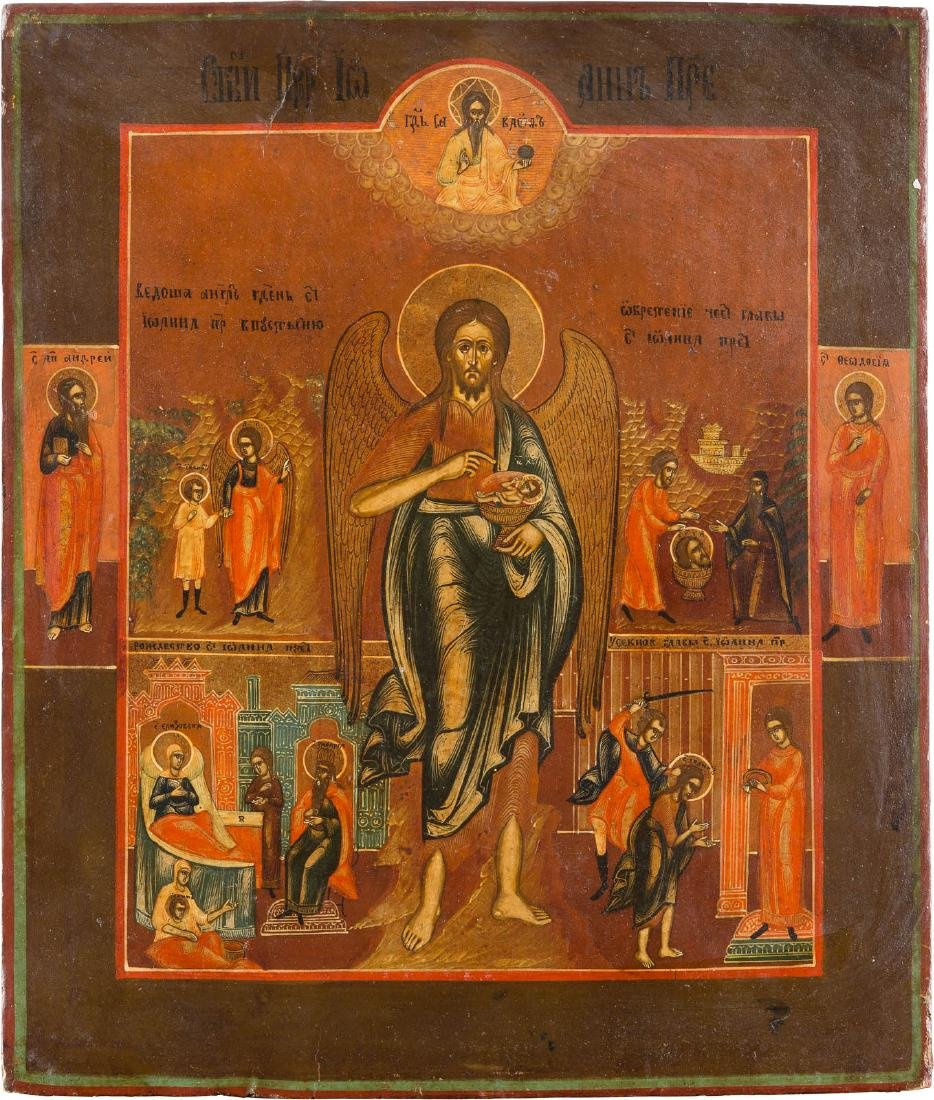 AN ICON SHOWING ST. JOHN THE FORERUNNER AS ANGEL OF THE