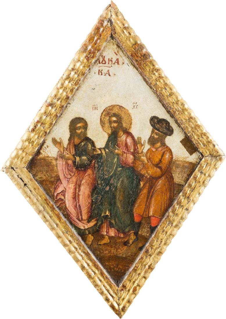 A RARE ICON SHOWING CHRIST Russian, 18th century