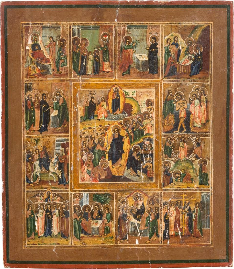 A FEAST ICON Russian, 19th century Tempera on wood