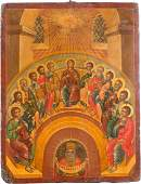 A LARGE ICON OF THE DESCENT OF THE HOLY SPIRIT