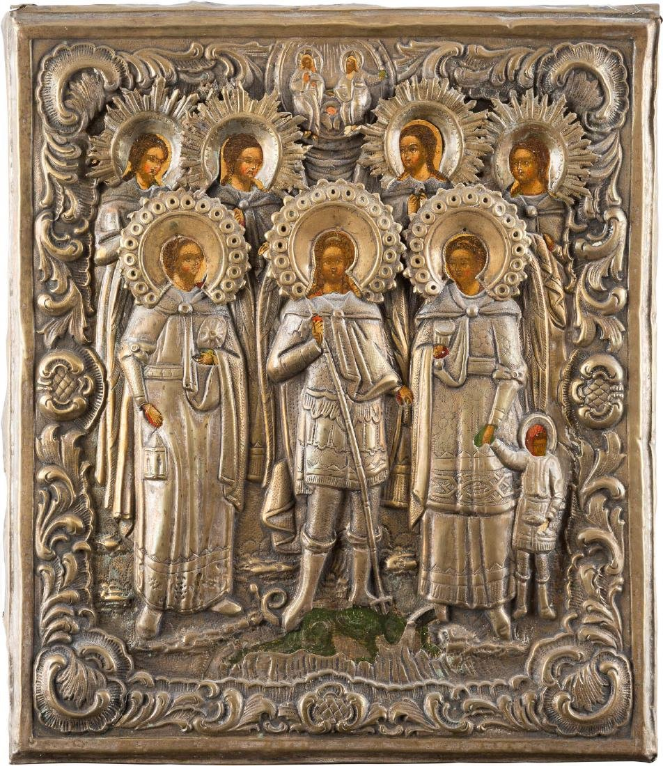 AN ICON SHOWING THE ASSEMBLY OF THE SEVEN ARCHANGELS