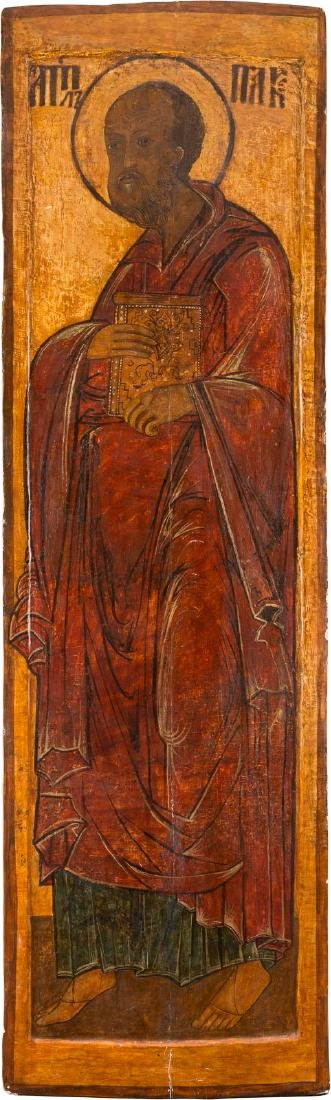A MONUMENTAL ICON SHOWING THE APOSTLE PAUL FROM A