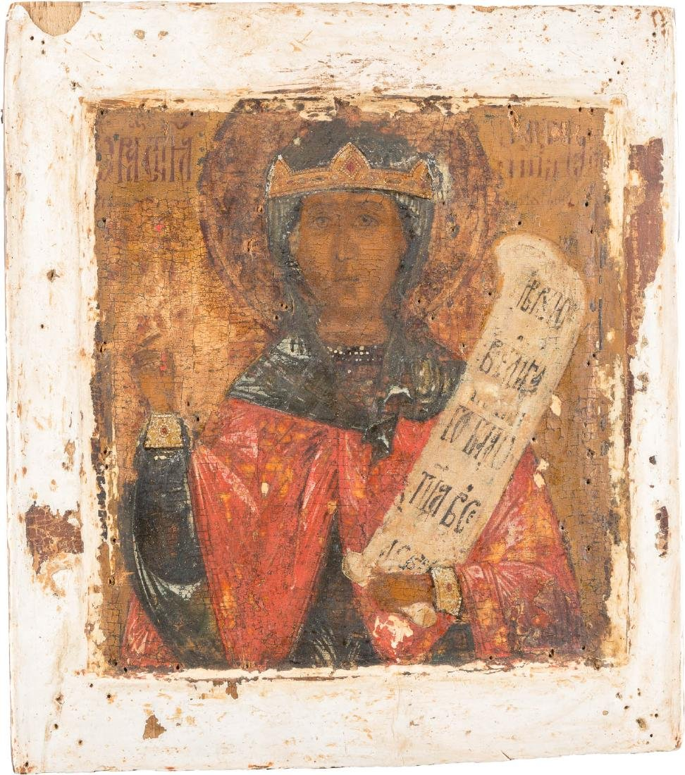 AN ICON SHOWING ST. PARASKEVE Russian, 17th century