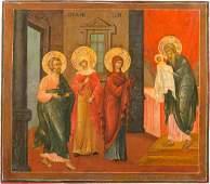GROSSFORMATIGE IKONE MIT DER DARBRINGUNG CHRISTI IM