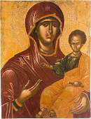 AN IMPORTANT AND LARGE ICON SHOWING THE HODIGITRIA
