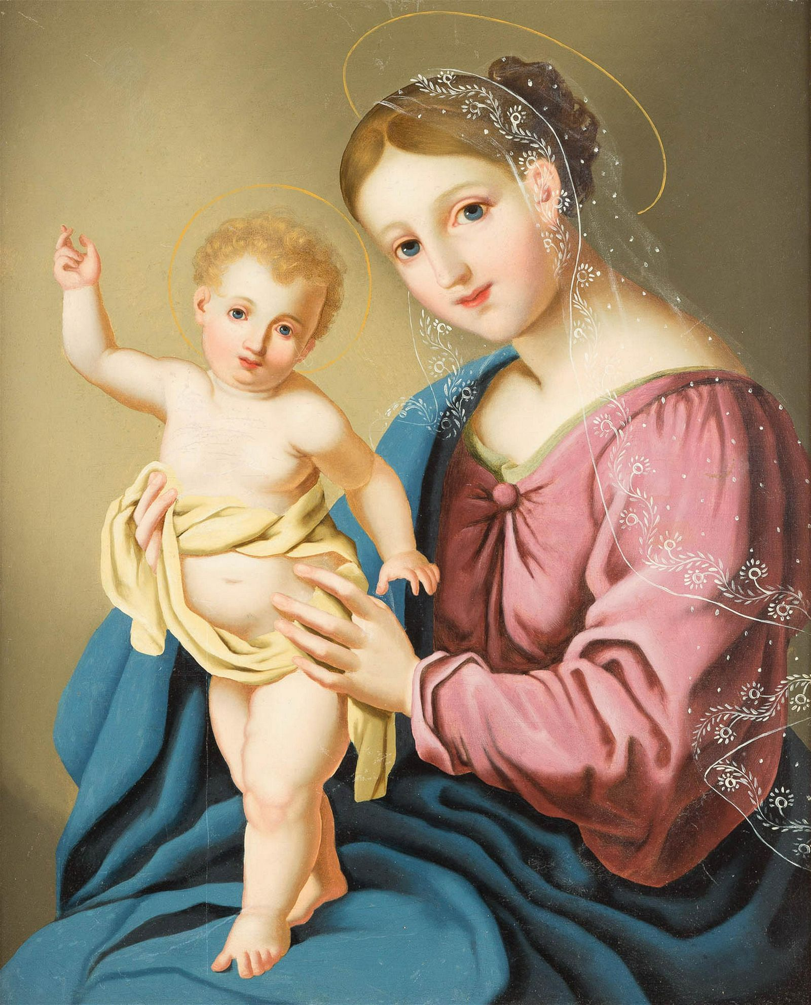 GERMAN/AUSTRIAN SCHOOL mid 19th C. Virgin Mary with