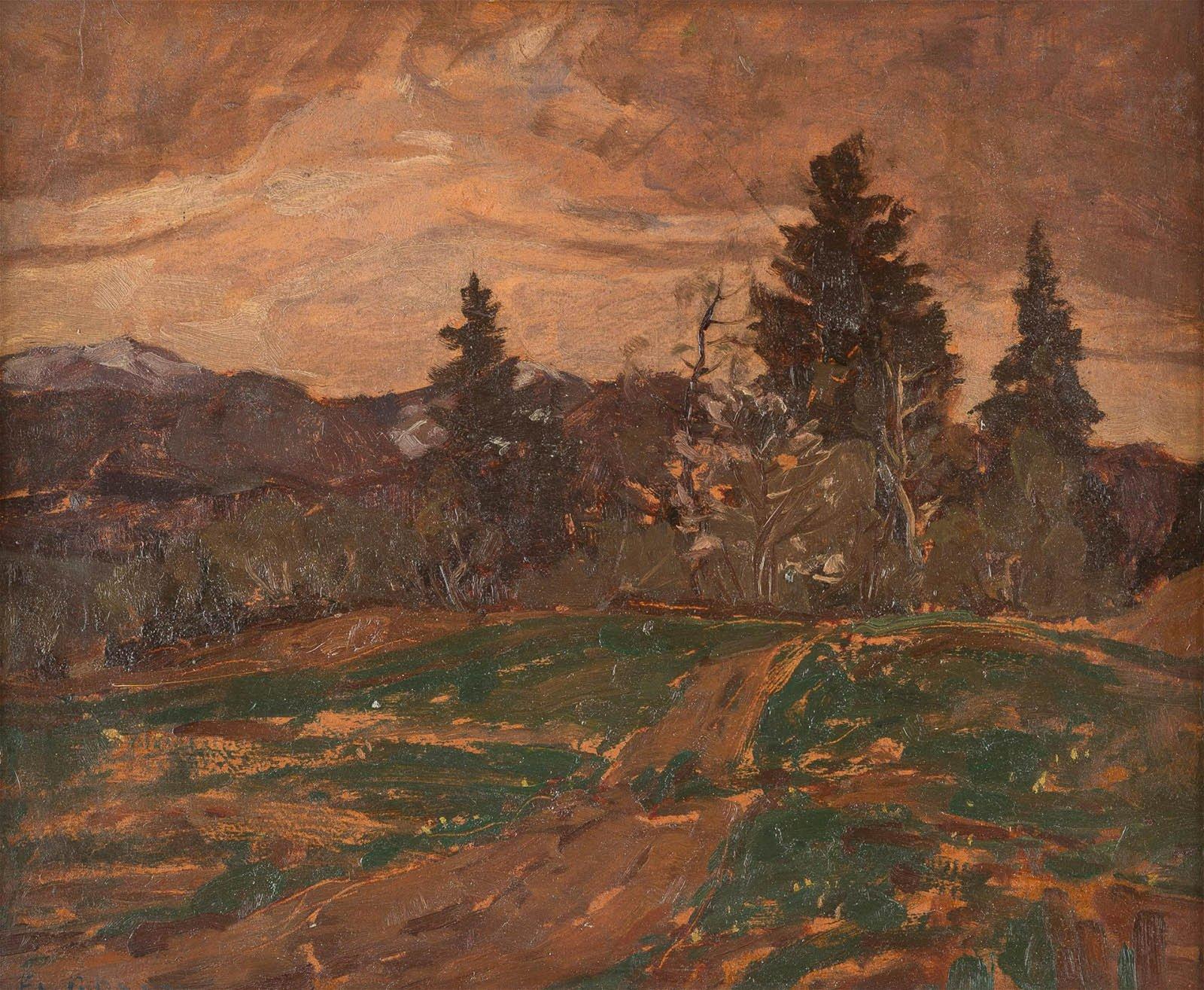 FRIEDRICH CARL ROSEN 1897 - 1952 Autumn landscape Oil