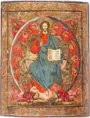 GROSSE IKONE MIT DEM THRONENDEN CHRISTUS