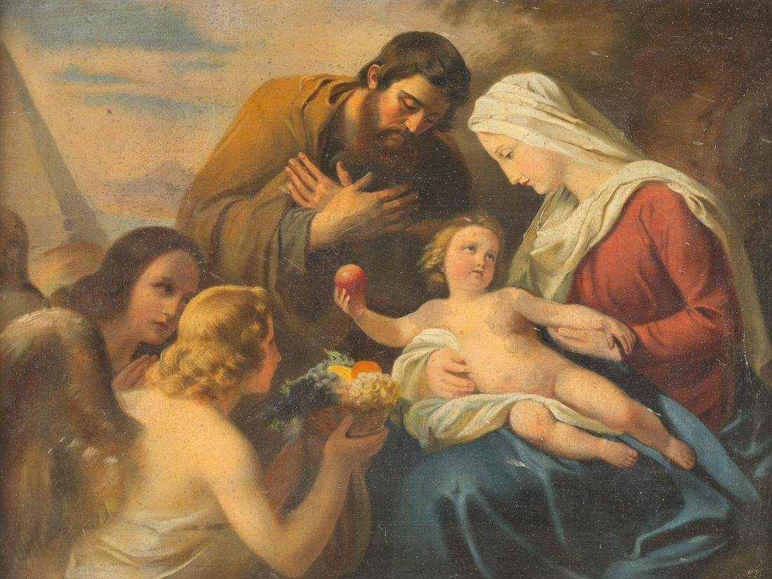 AUSTRIAN SCHOOL c. 1900 Adoration of the Holy Family