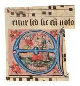 GRADUALEFRAGMENT MIT BILDINITIALE Deutsch, dat. '1566'