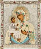 AN ICON SHOWING THE IERUSALIMSKAYA MOTHER OF GOD WITH
