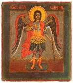A MINIATURE ICON SHOWING THE GUARDIAN ANGEL Russian,