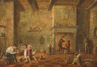 FLEMISH SCHOOL Master, active about 1700. PAIR OF