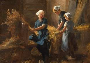 H. B. WEYD 1st. h. 20th C. After the harvest Oil on