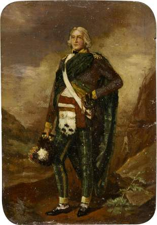 BRITISH about 1850 Portrait of a royal gentleman in