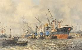 MARINUS JOHANNES DE JONGERE 1912  1978 Ship repairs in