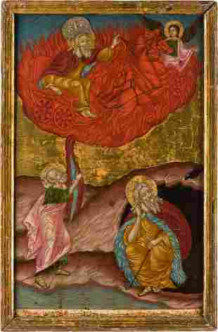 A LARGE AND VERY FINE MELKITE ICON SHOWING THE PROPHET