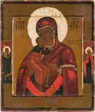 A SMALL ICON SHOWING THE FEODOROVSKAYA MOTHER OF GOD