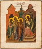 DARBRINGUNG CHRISTI IM TEMPEL Verbund aus drei