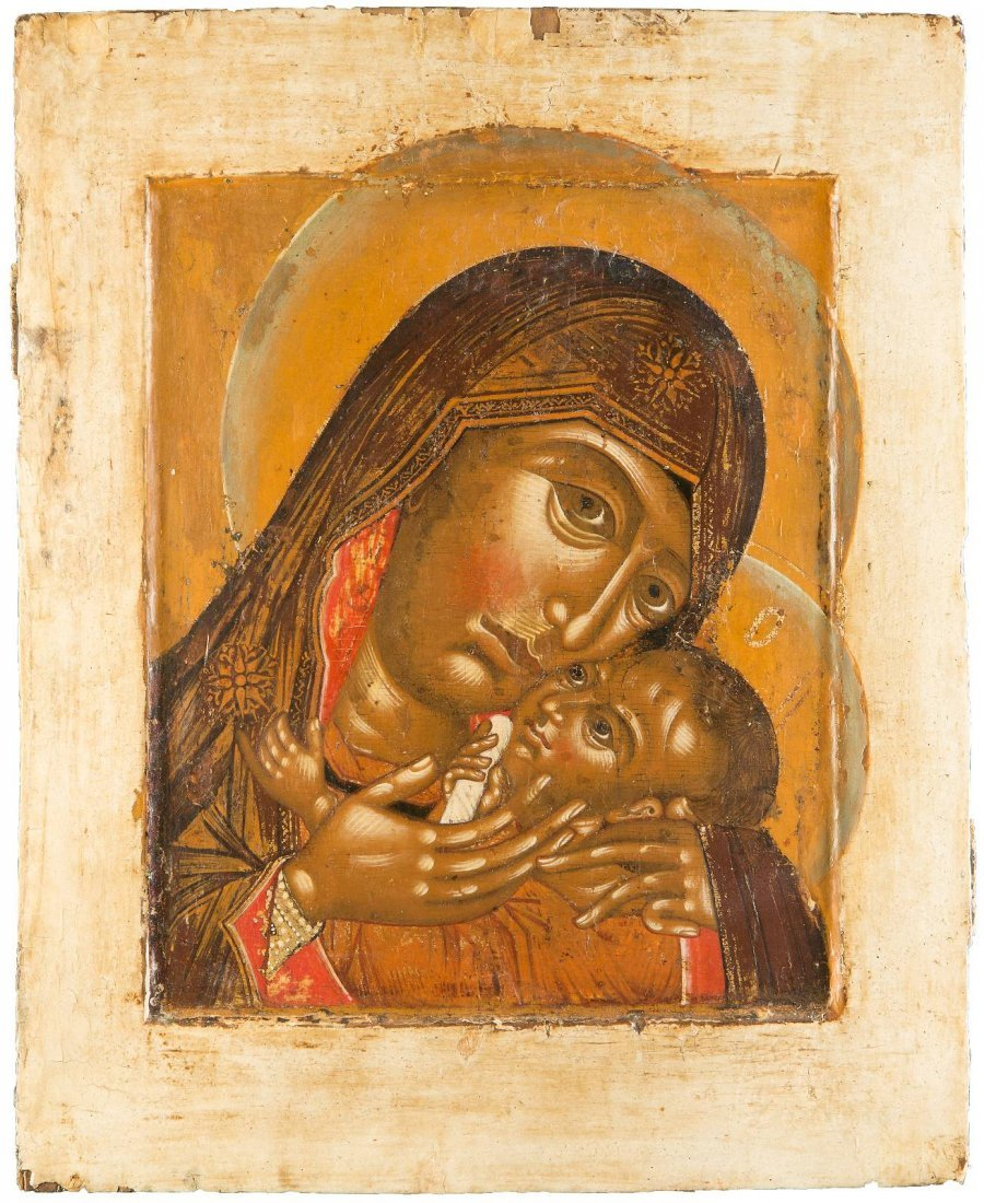 A LARGE ICON OF THE MOTHER OF GOD OF KORSUN