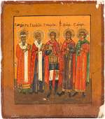 A SELECTION OF FAMILY SAINTS Russian 19th century