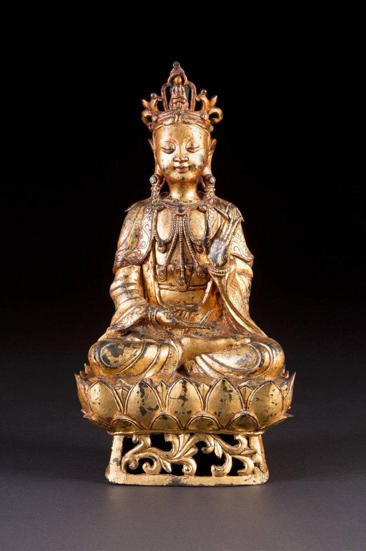 KWAN YIN AUF EINEM LOTUS China, Ming Dynastie