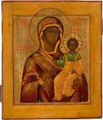 AN ICON SHOWING THE MOTHER OF GOD OF SMOLENSK Central