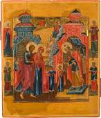 AN ICON OF THE PRESENTATION TO THE TEMPLE Central