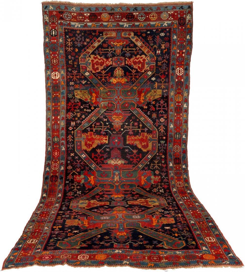 KASAK Kaukasus, um 1900 437 x 204 cm. Gebrauchsspuren.