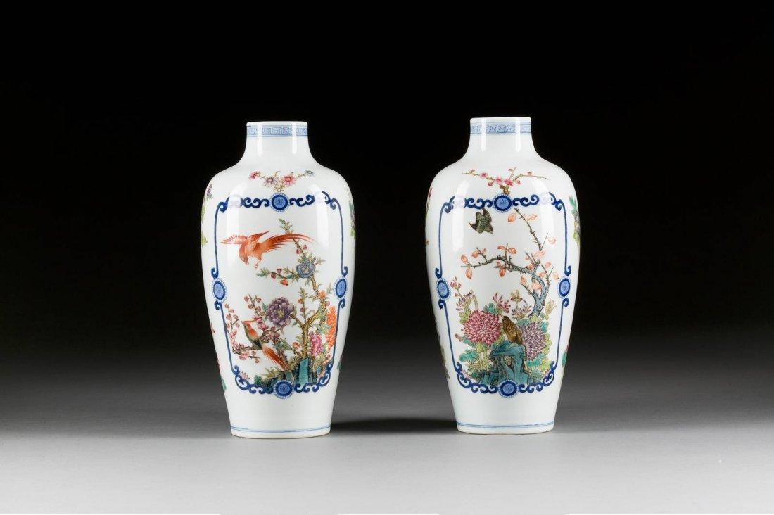 PAAR DOUCAI-VASEN China, Xuantong-Periode (1909-1911)